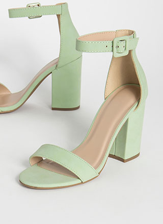 Just The Thing Chunky Ankle Strap Heels