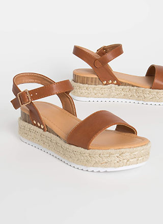 Fun Frolic Braided Wedge Sandals
