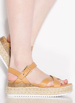Escapade Strappy Braided Wedge Sandals