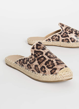 Vacation Days Braided Leopard Sandals