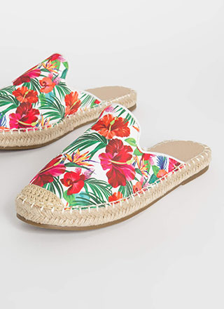 Vacation Days Braided Floral Sandals