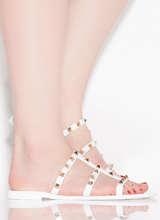 Stud Factor Caged Jelly Sandals