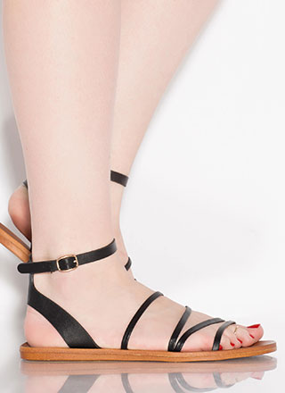 Four Your Eyes Only Strappy Sandals