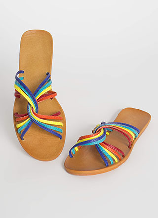 Loops I Did It Again Rainbow Sandals