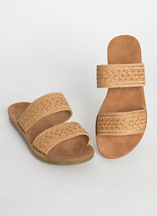 Bali Vacation Woven Slide Sandals