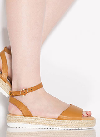 Sun's Out Braided Faux Leather Sandals