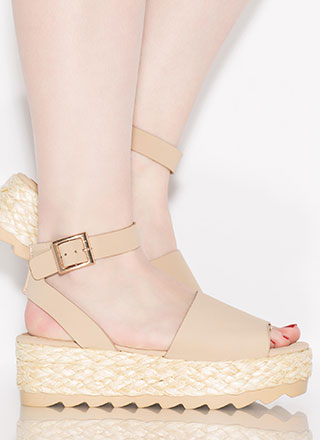 Sun Day Braided Faux Nubuck Sandals