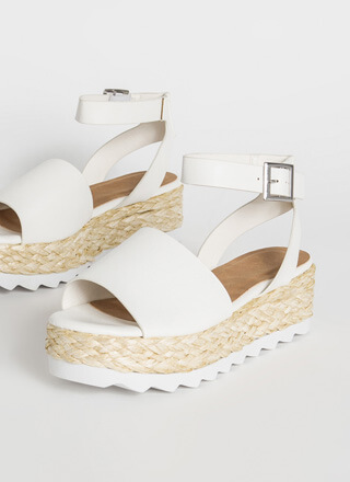 Sun Day Braided Faux Leather Sandals