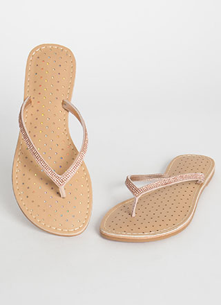 Sparkle Factor Jeweled Thong Sandals
