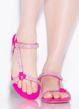 Harness It Jeweled Strappy Sandals