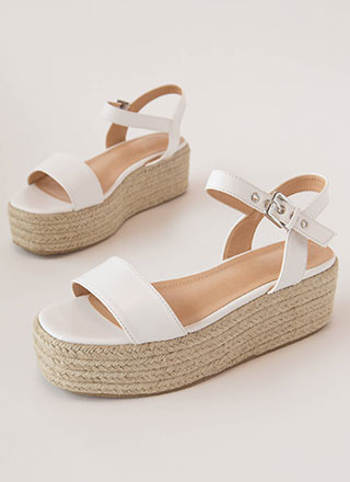 Beach House Jute Trim Wedge Sandals
