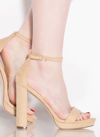 Girls Night Strappy Faux Suede Heels