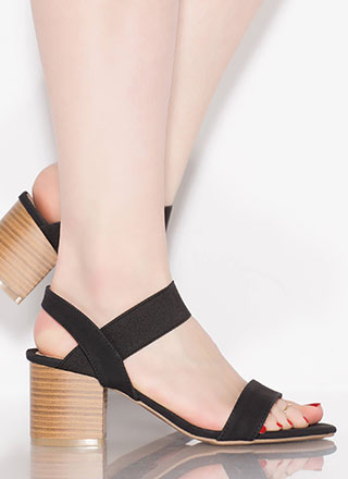 Simply Chic Elastic Band Block Heels
