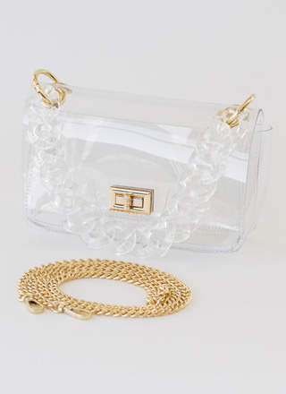 It's Becoming So Clear Chain Strap Purse