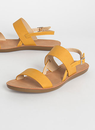 Boardwalk Strappy Faux Leather Sandals