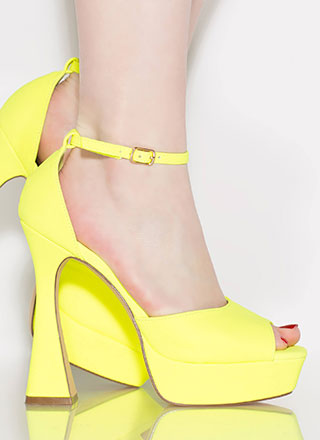 Going Retro Pyramid Heel Platforms