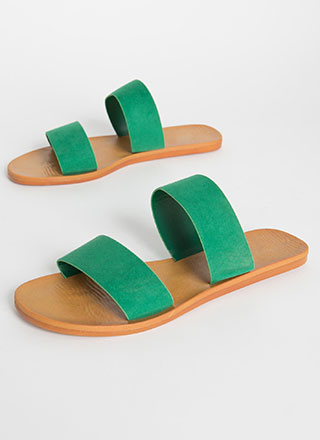 Bonfire Faux Suede Slide Sandals