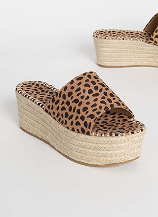 Let It Slide Cheetah Print Wedge Sandals