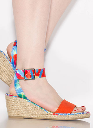 Margarita Braided Tie-Dye Wedges