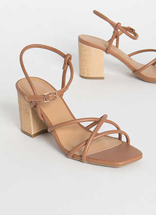 These Wood Work Strappy Block Heels