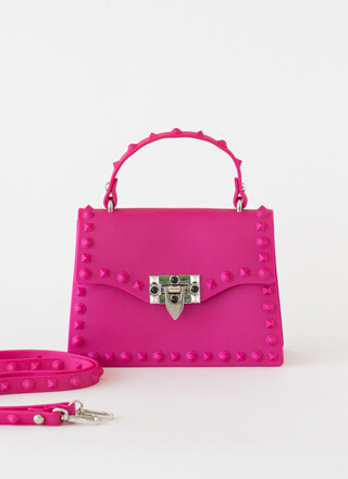 Right On The Edge Studded Jelly Purse