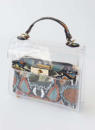 My Inner Snake Clear 2-Piece Handbag