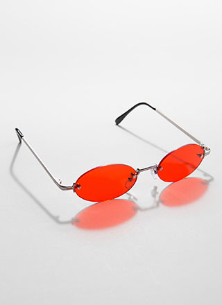 All Oval The Place Frameless Sunglasses