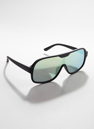 Goggle It Reflective Matte Sunglasses