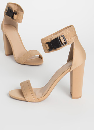 Catch And Release Chunky Buckled Heels