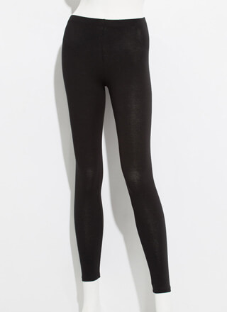 Keep Me Around Basic Mid-Rise Leggings
