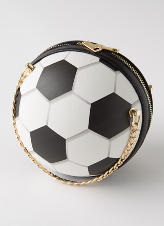 Goals Soccer Ball Novelty Handbag