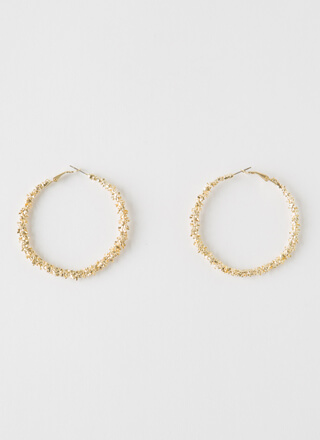More Than Enough Textured Hoop Earrings