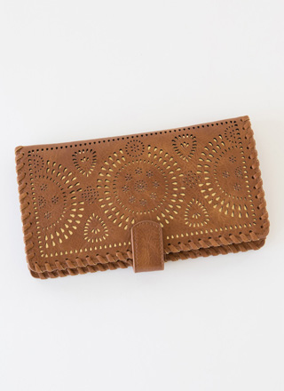 Boho Adventures Eyelet Wallet Clutch