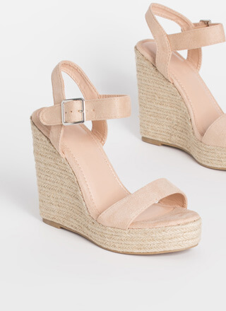 Fun Times Braided Platform Wedges