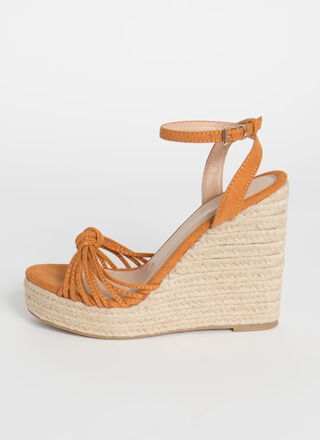 Time For Vacay Strappy Braided Wedges