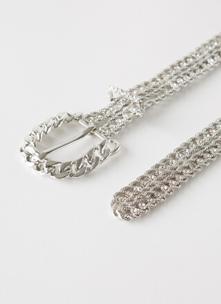Rope Me Into It Jeweled Chain Belt