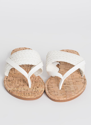 Back To The Villa Woven Thong Sandals
