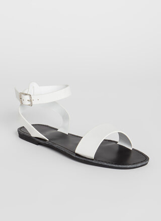 Plain And Simple Ankle Strap Sandals