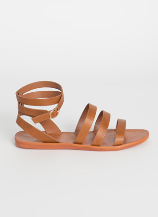 Three For Three Ankle Strap Sandals