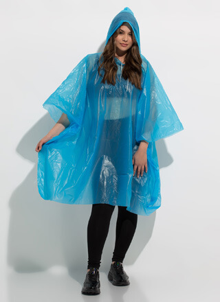 Rain Rain Hooded Waterproof Poncho