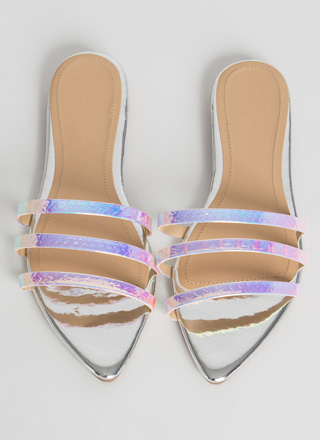 Mermaid Love Pointy Three Strap Sandals