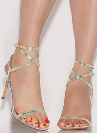 Strappy Girl Wraparound Mermaid Heels