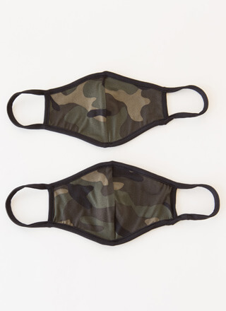 Cover Girls 2-Pack Camo Face Masks
