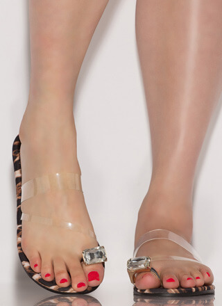 Put A Ring On It Clear Strap Sandals