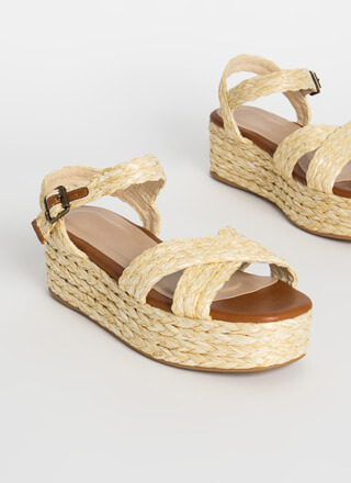 Raffia Girl Braided Wedge Sandals