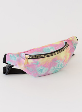 Cotton Candy Dreams Tie-Dye Fanny Pack