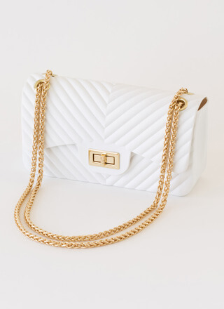 Ridge The Gap Chain Strap Jelly Handbag