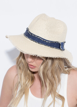 Hay There Fringe-Trimmed Straw Hat
