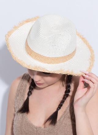 Country Girls Braided Straw Fringe Hat