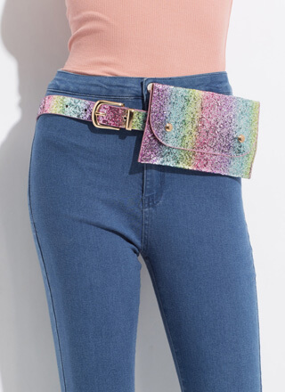 I'm A Unicorn Glitter Belt And Pouch Set